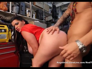 Angelina Castro takes Cumload in Bike Garage!