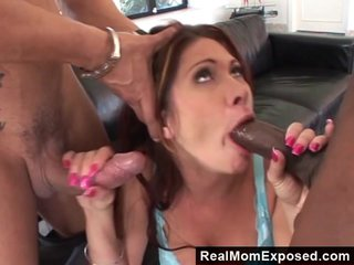 RealMomExposed  Nasty Milf Vs 2 Huge Cocks