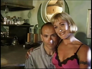 Blonde wife is fucked by her lover in front of her husband