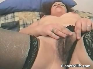 Slutty brunette MILF screw herself part5