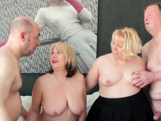 AgedLovE Two guys added to Two Ladies Hardcore Sex