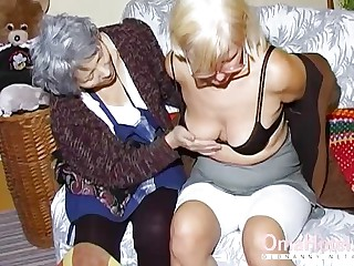 OmaHoteL Two Mature Lesbians Carrying-on Pile up