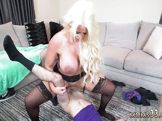 Mom Fescennine masturbating and fucked Step Mom's New Fuck Toy