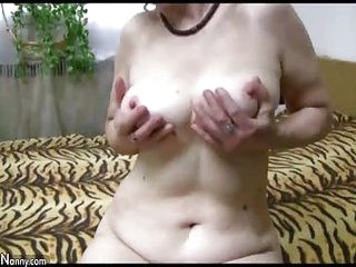 OldNannY Expansively Superannuated Grown-up Blowjob plus Toys