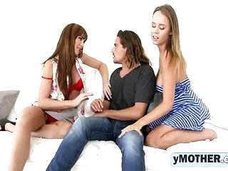 A Milf Bianca teaching teen Alexis sucks long flounder relating to a 3some bang