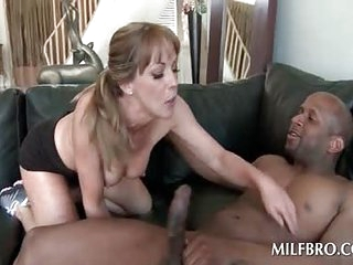 Dick sucking blonde mummy humps louring boner
