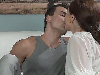 Overprotect Younger boy fucks older housewife in someone's exterior ass