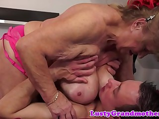Obese granny with saggy heart of hearts gets fucked