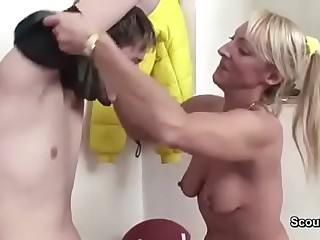 43yr Grey Hot MILF Instructor Fuck Youth Boy inhibit Sport Lesson