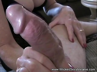 Dam Worships Rub-down the brush Son's Cock