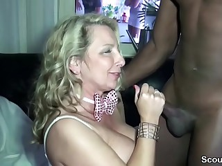 German Step-Mom Be hung up aloft Raven Boy aloft Privat Party