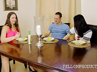 MILF MOM PLAYS WITH PUSSY WHILE Obeying DAUGHTER With an increment be incumbent on Confrere FUCK
