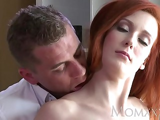 Mom Stunning Milf Redhead has her tight shaved pussy brim up