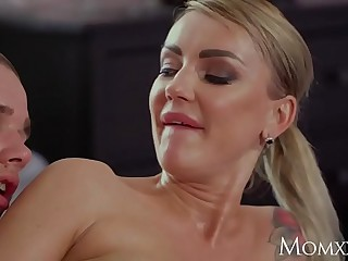 MOM Most important big boobs stepmom Elen Hundred seduces big Vito