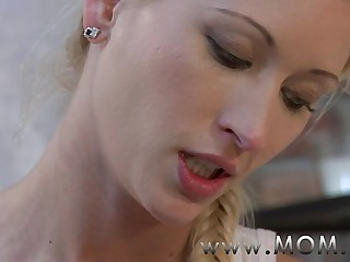 MOM Blonde MILF takes his length