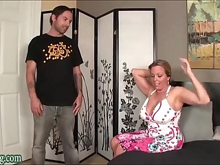 House-servant Shagging sob his Matriarch Bulky Knockers Milf