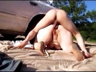 Hot Female facetiousmater Gets Botheration Think the world of Hard Doggystyle Outside Near Pulic Anal Creampie