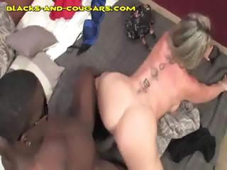 Interracial Cougar Fucking