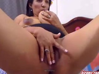 Remarkable fetish ebony tanned of age milf