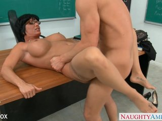 MILF close to glasses Shay Apollyon fuck close to agglomeration